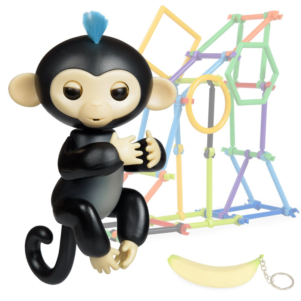 Jucarie interactiva Happy Finger Monkey Black