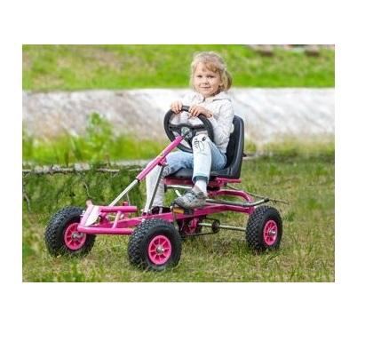 Kart cu pedale F120 roz