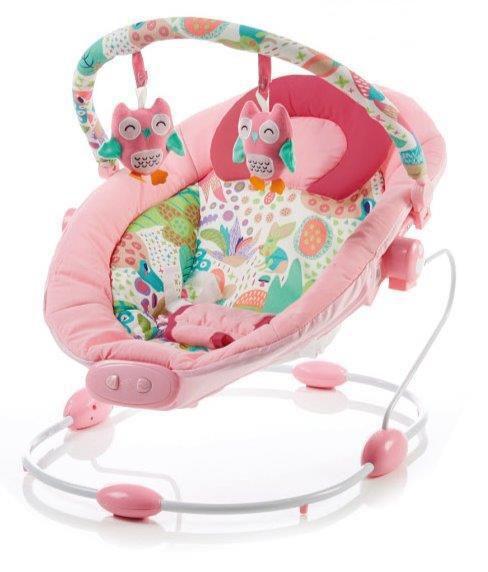 Leagan muzical cu vibratii Grand Confort Pink Sensation