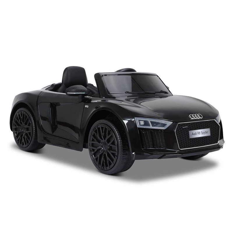 Masinuta electrica cu telecomanda Audi R8 Spyder Black - 3