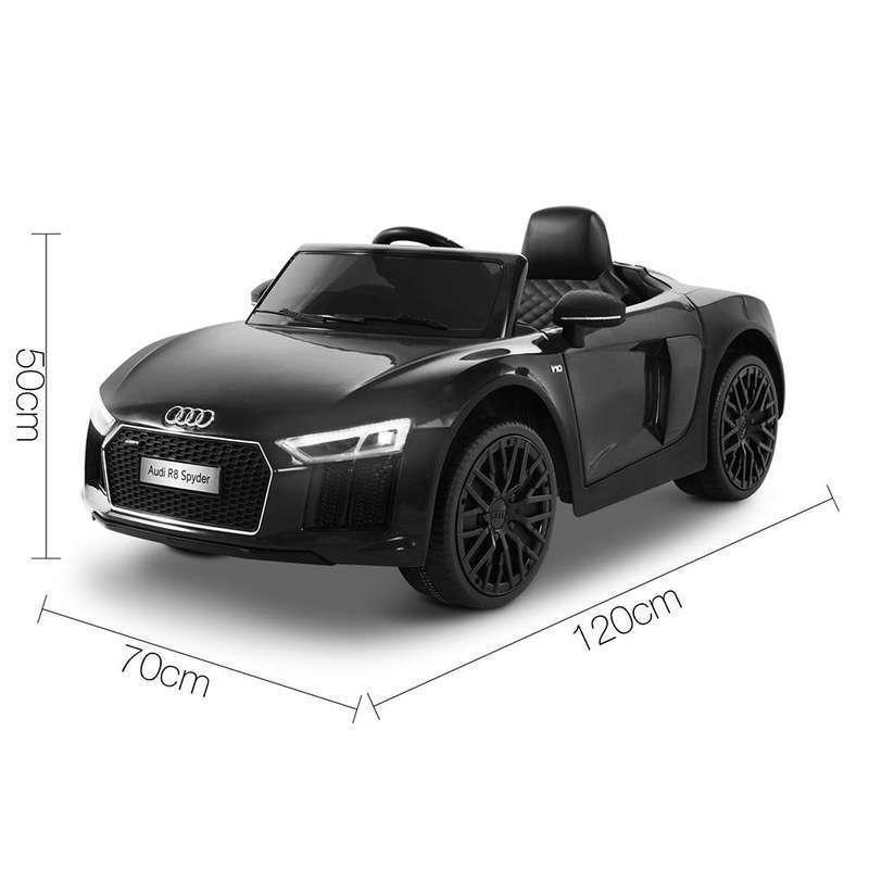 Masinuta electrica cu telecomanda Audi R8 Spyder Black - 5