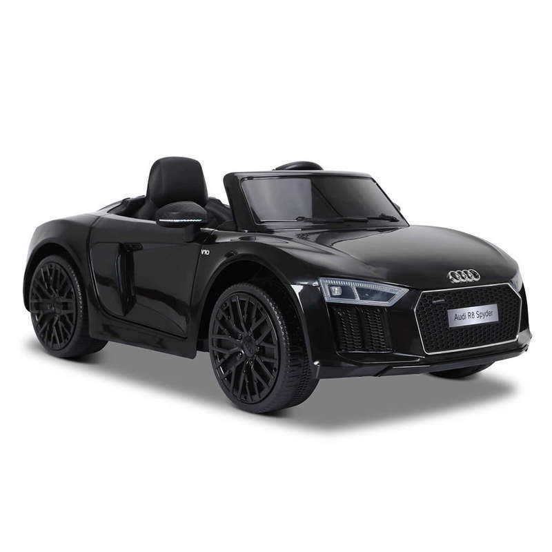 Masinuta electrica cu telecomanda Audi R8 Spyder Black - 6