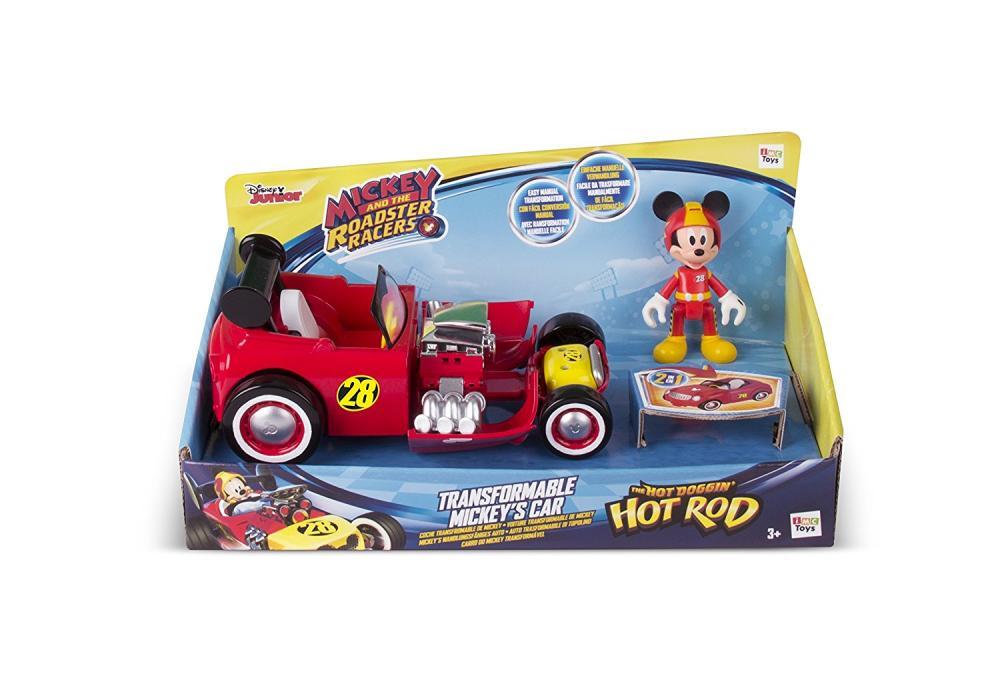Masinute transformabile + figurine asortate Mickey Mouse