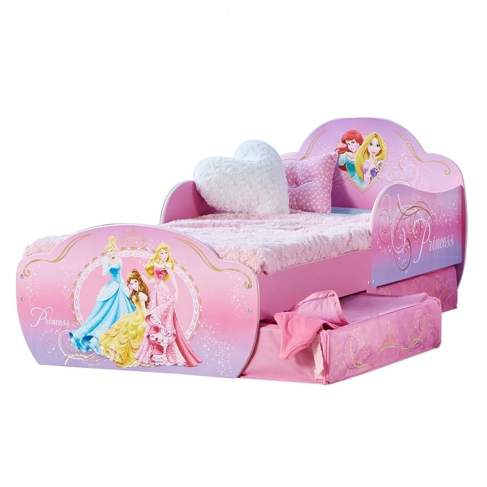 Pat Disney Princess cu spatiu de depozitare