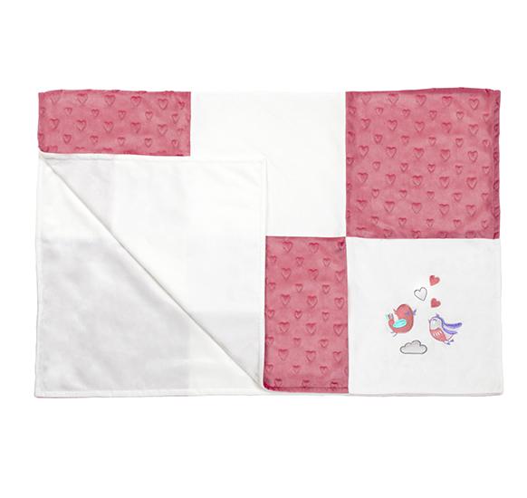 Paturica dubla Mozaic Baby Ono Pink