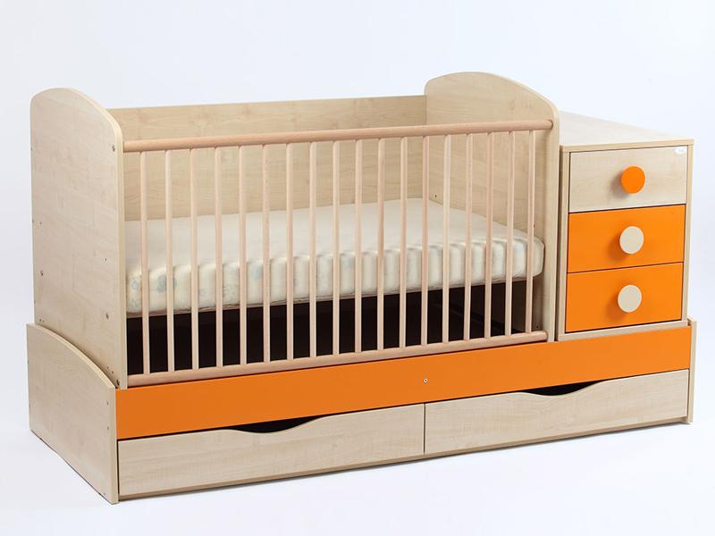 Patut Transformabil Silence Natur Orange Cu Leg 4058