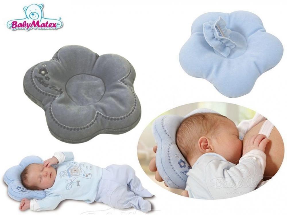 Perna pentru formarea capului bebelusului Baby Matex Flor Grey