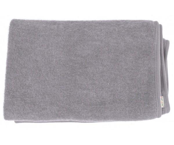 Paturica din lana merinos organica wool fleece 90x90 cm Iobio Caffe Latte imagine