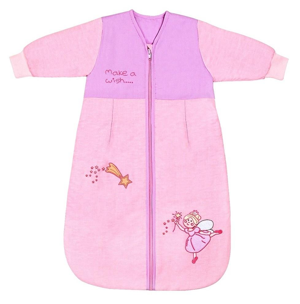 Sac de dormit cu maneca lunga Pink Fairy 0-6 luni 2.5 Tog