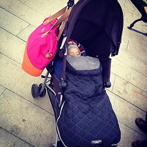 Sac de iarna JJ Cole Urban Bundle Me Infant Stealth - 7