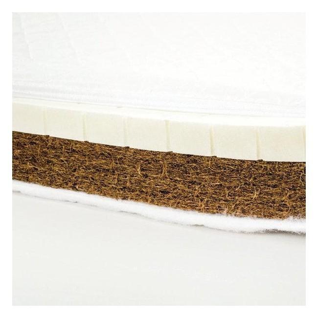 Saltea Cocos Latex cu husa detasabila Bumbac Organic si Lana 120x60x10 cm imagine
