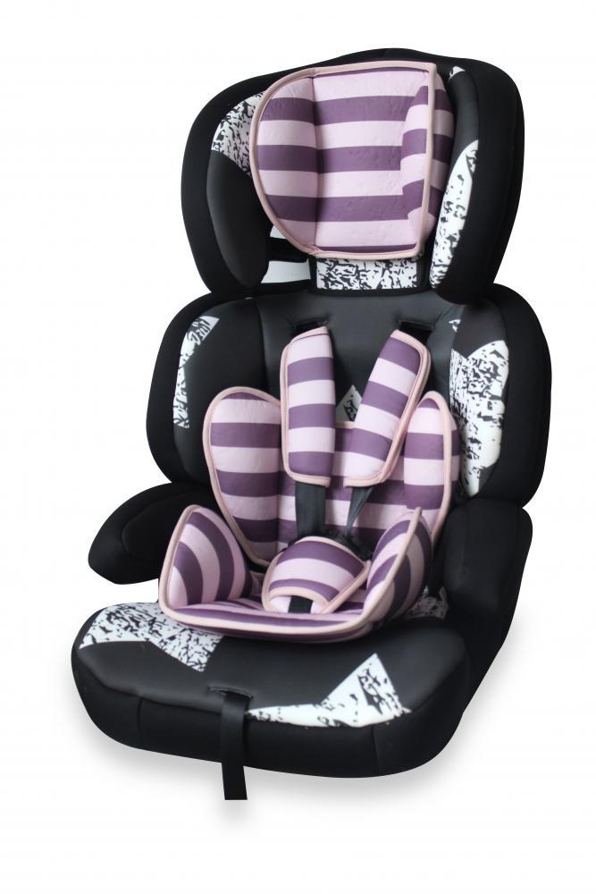 Scaun auto 9-36 Kg Junior Premium Black Pink Stars