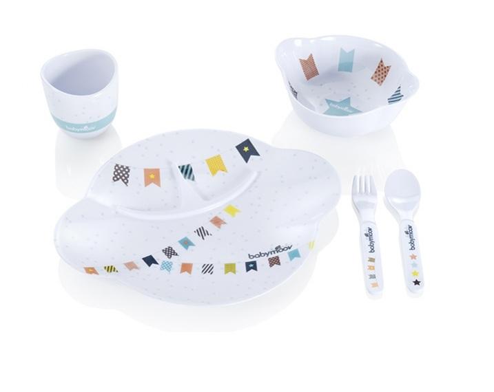 Set Complet Pentru Hranire Party Lunch Albastru