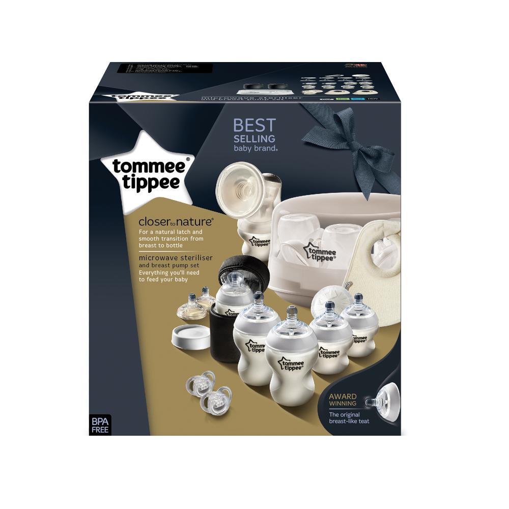 Set sterilizator pentru microunde si pompa de san manuala Tommee Tippee imagine