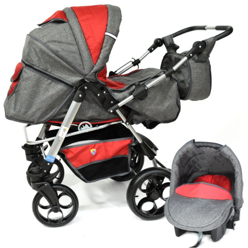 Carucior 3 in 1 Skutt Rocada GraphiteRed