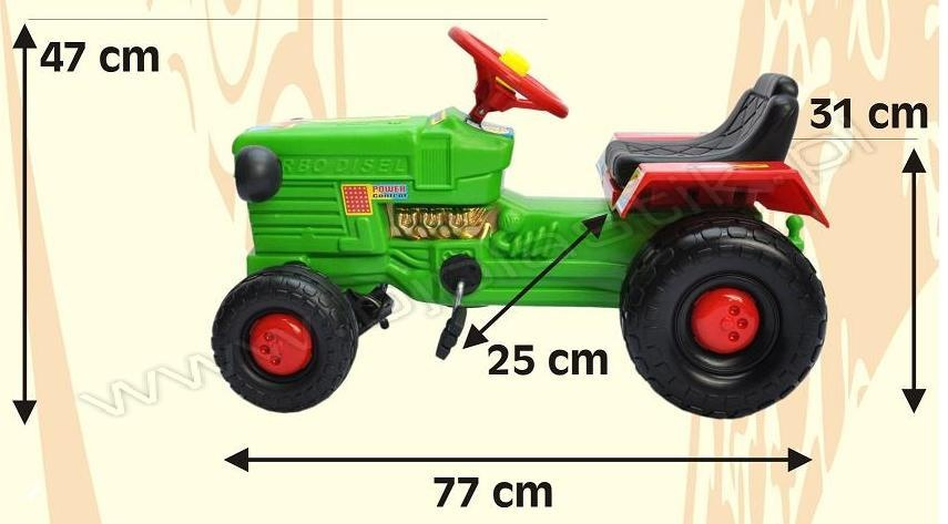 Tractor cu remorca WILLY Verde
