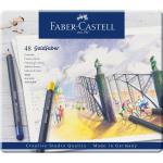 Creioane Colorate 48 Culori Goldfaber Cutie Metal Faber-Castell 0