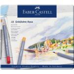 Creioane Colorate Aquarelle 48 Culori Goldfaber Cutie Metal Faber-Castell 0