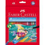 Creioane colorate acuarela cu pensula Faber-Castell  48 buc