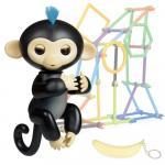 Jucarie interactiva Happy Finger Monkey Black