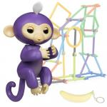 Jucarie interactiva Happy Finger Monkey Purple
