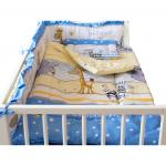 Lenjerie Imagine Safari blue 4+1 piese 120x60