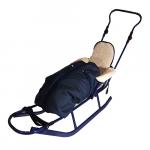 Sanie Practik albastra cu sac imblanit