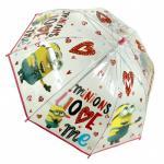 Umbrela transparenta 42 cm Minions