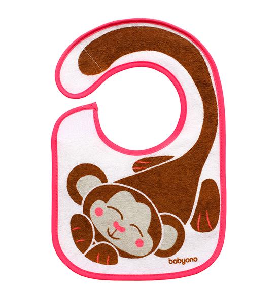 Baveta impermeabila cu scai I eat and I grow Little Monkey