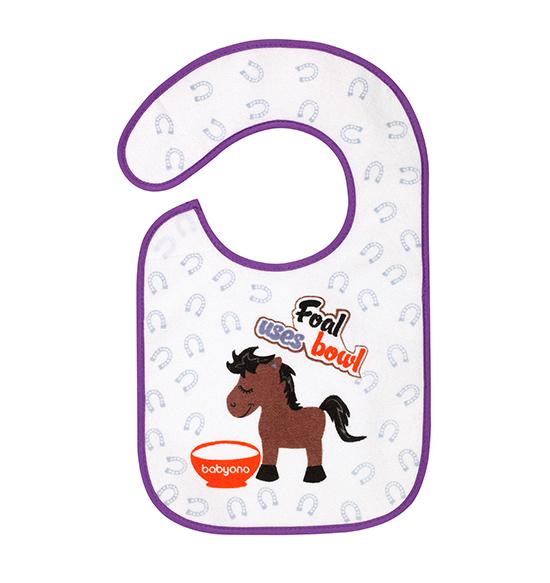 Bavetica impermeabila din bumbac 6luni+ Flavour Explorer Horse