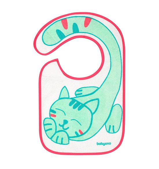 Bavetica impermeabila din bumbac 6luni+ Flavour Explorer Kitty