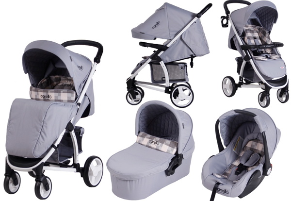 Carucior M21 sistem 3 in 1 Carello Square Jeans