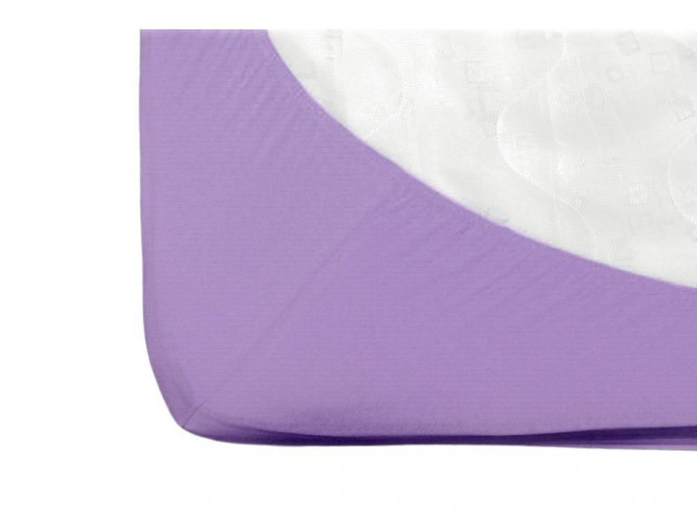 Cearsaf cu elastic jerse din bumbac mov 120x60 cm