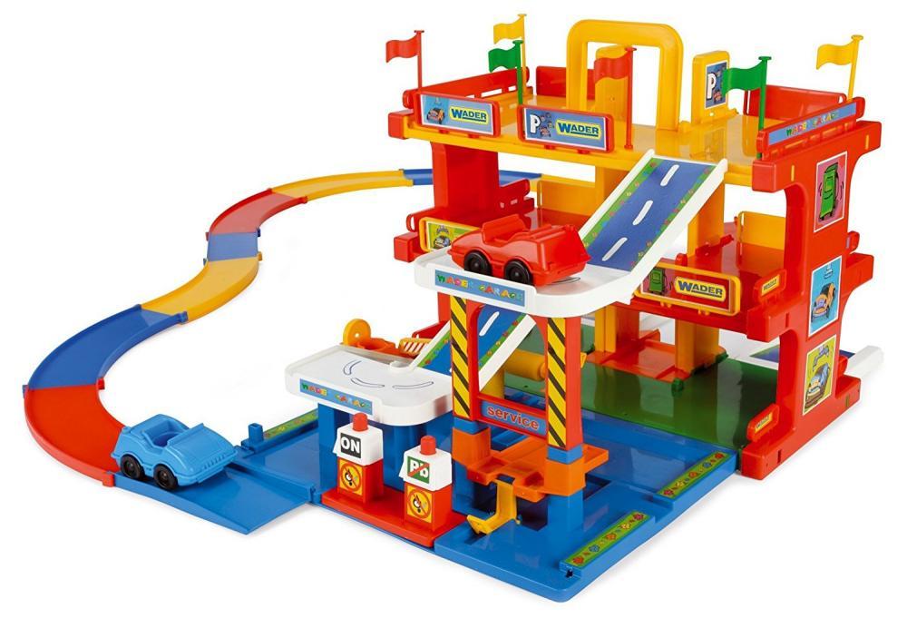 Garaj cu 3 nivele, 2 masinute si sistem stradal Wader