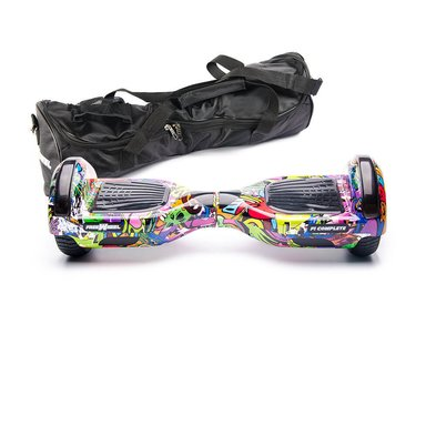 Hoverboard Freewheel F1 Complete - Graffiti mov + Husa Cadou