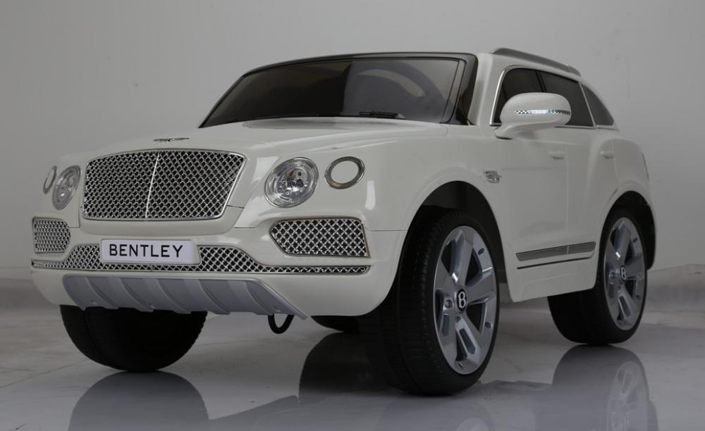 Masinuta electrica cu telecomanda Bentley Bentayga White imagine