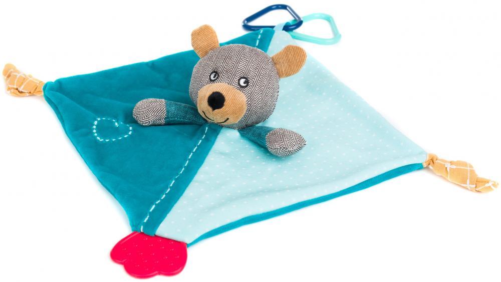 Mini paturica de somn cu jucarie Urs Fillikid