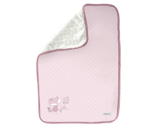 Paturica cu doua fete Luxury Pink Fox 75x100 cm