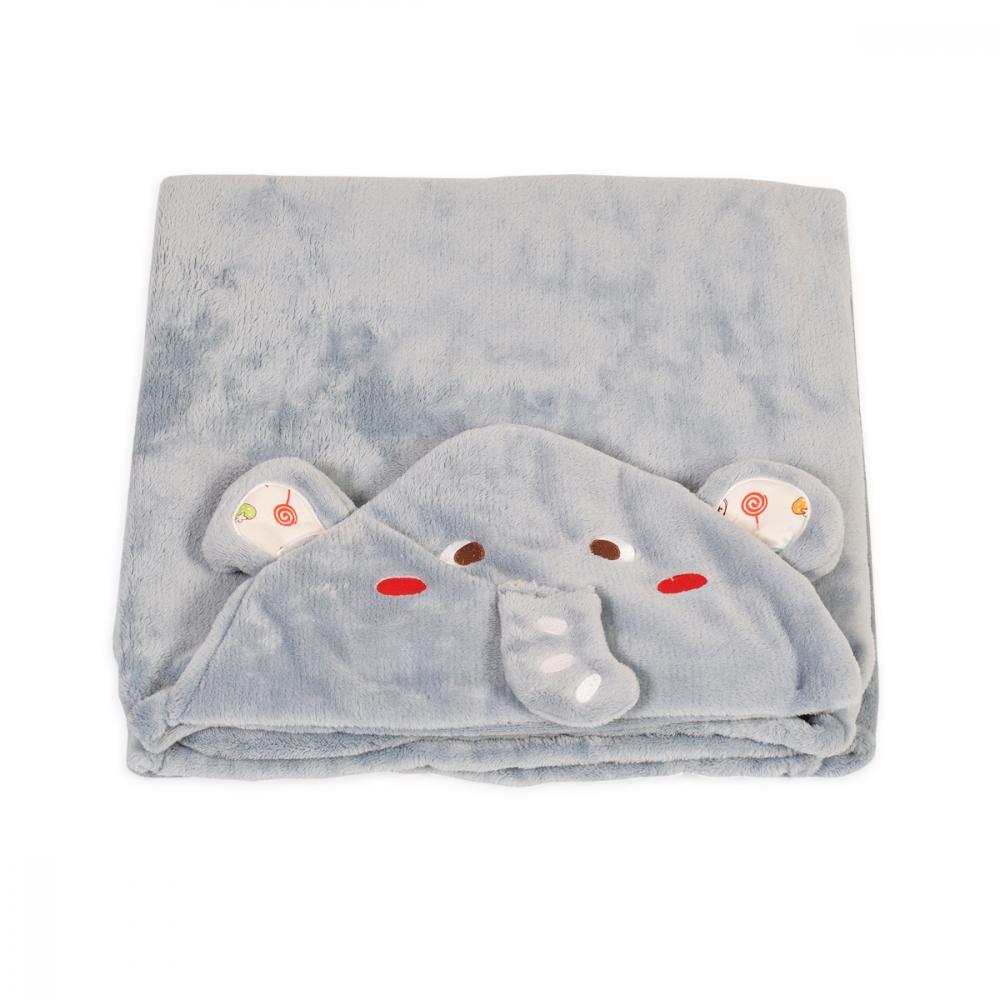 Paturica pentru bebelusi de plus Elefantul Bonito 130x90 cm