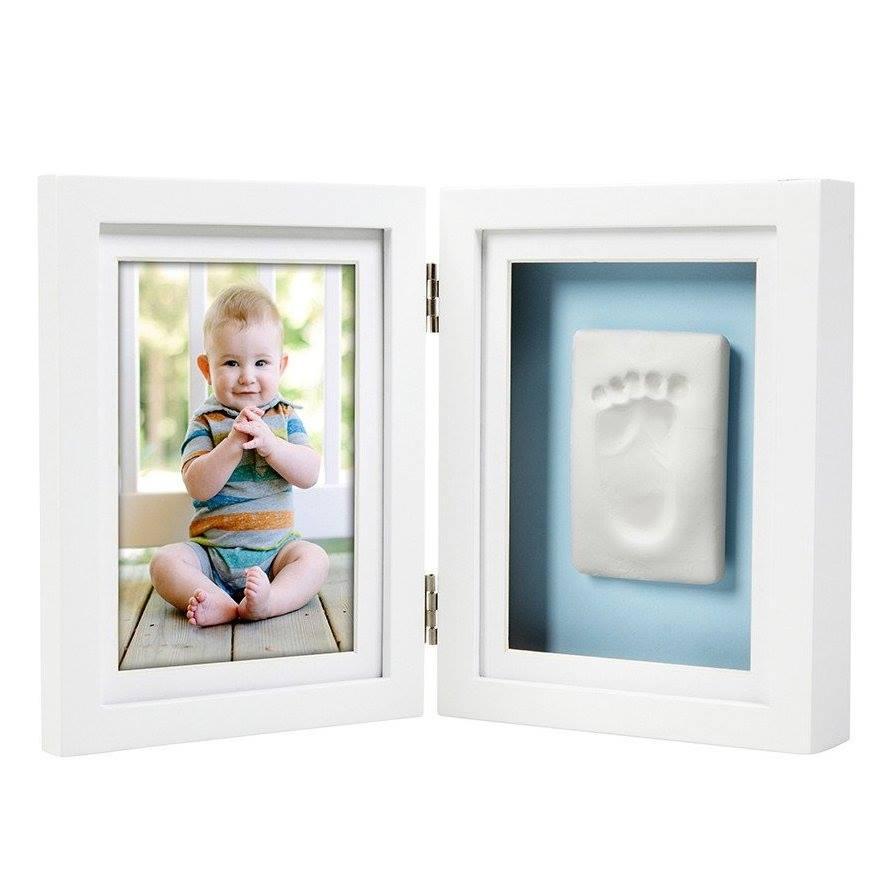 Rama foto dubla cu amprenta bebelusului