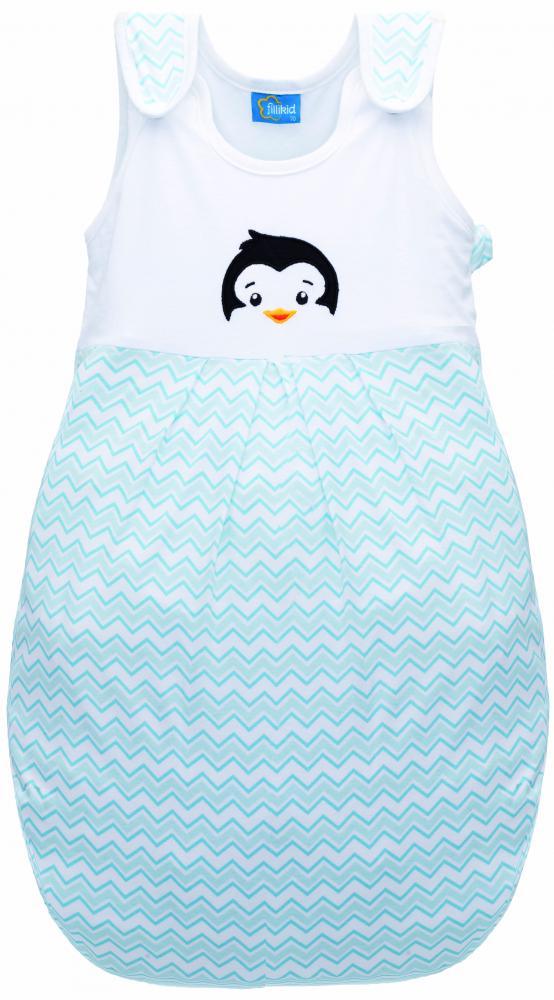 Sac de dormit Pinguin Blue pentru iarna 110 cm din categoria Camera copilului de la FILLIKID