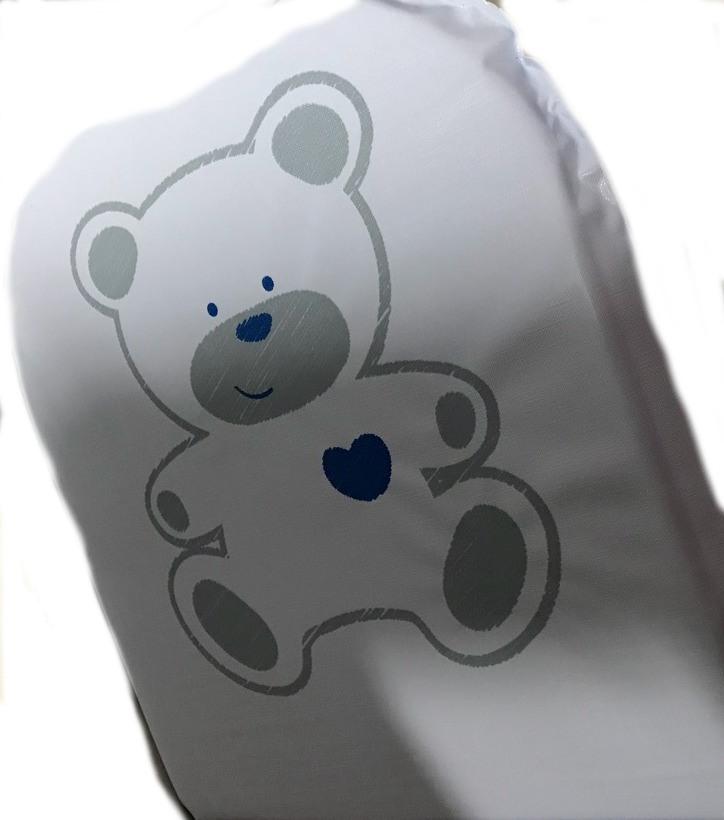 Scaun de masa multifunctional din lemn Aga White Sweet Bear Gri