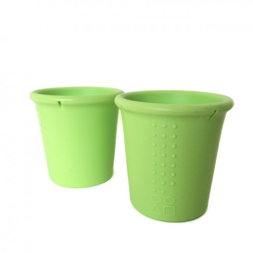Set 2 pahare din silicon Silikids Lime