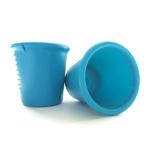 Set 2 pahare din silicon Silikids Teal