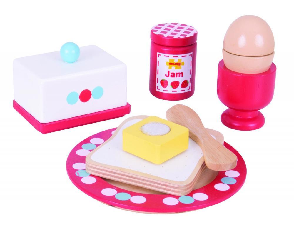 Set mic dejun din lemn