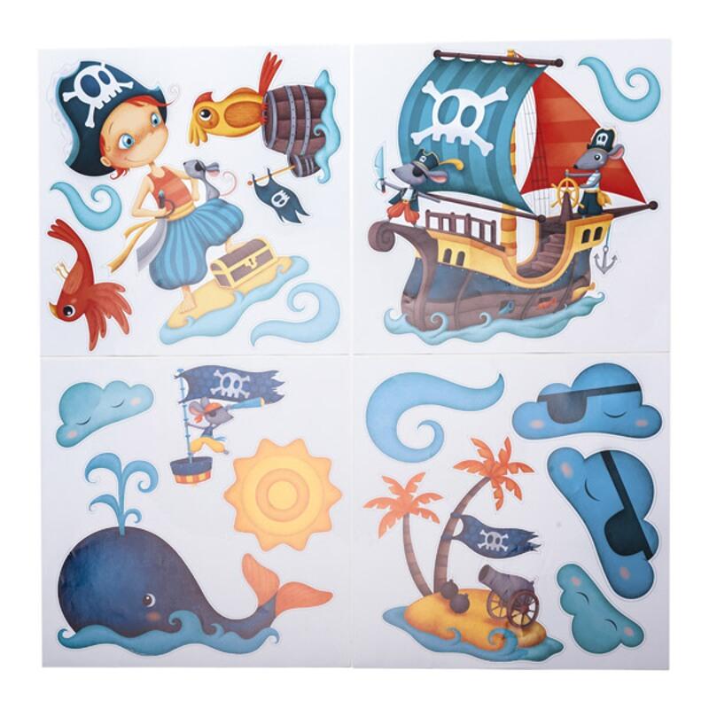 Stickere pentru decorarea camerei baietilor - Pirati neinfricati