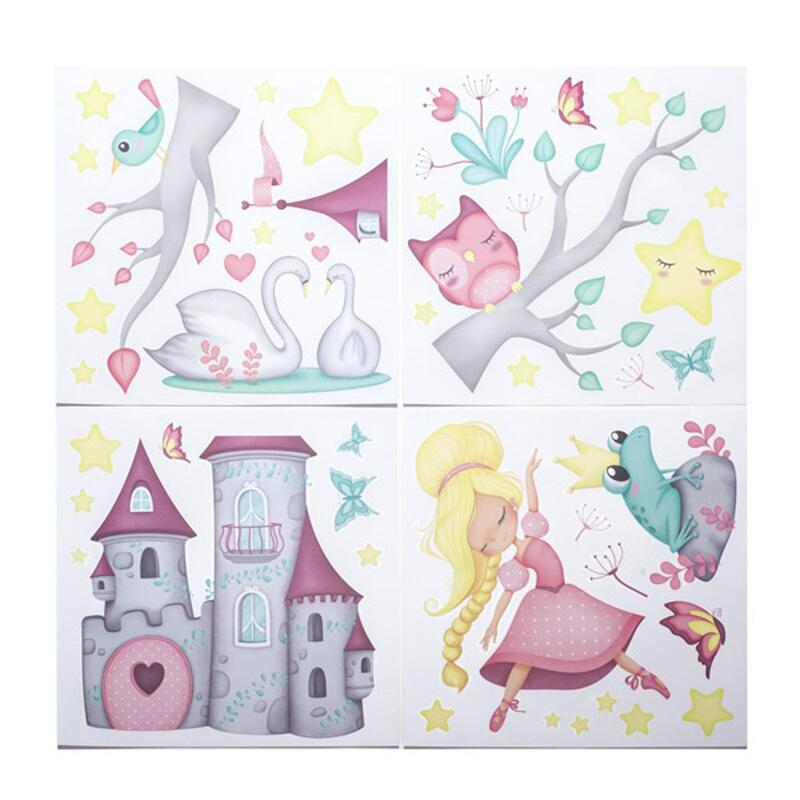 Stickere pentru decorarea camerei fetitelor - Regatul printesei