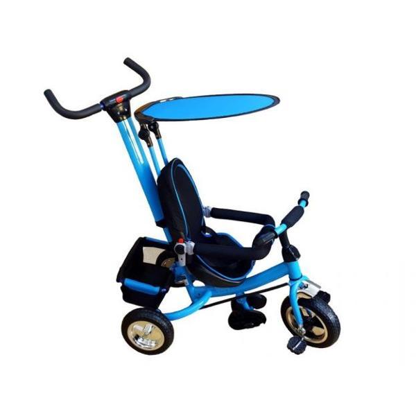Tricicleta parasolar albastru