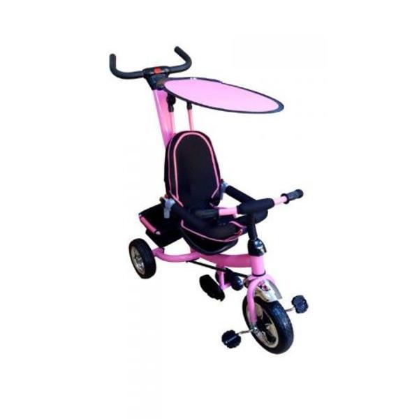 Tricicleta parasolar roz