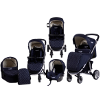 Carucior M21 sistem 3 in 1 Carello Navy